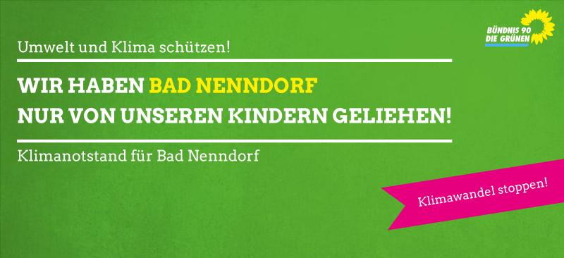 Klimanotstand: Wir haben Bad Nenndorf nur von unseren Kindern geborgt!