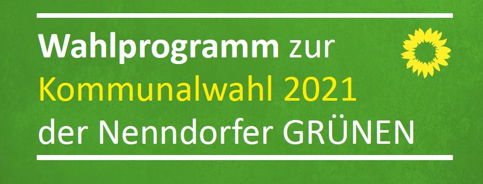 Wahlprogramm zur Kommunalwahl 2021