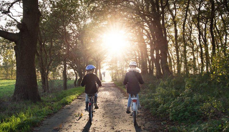 Girls Bicycle Helmets Bicycle Lane  - Skitterphoto / Pixabay